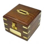 Square Wooden Money Box PERSONALISED, ref WSMB